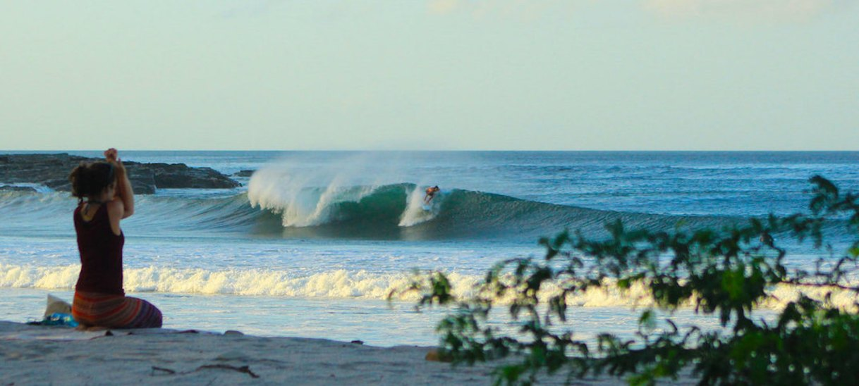 Teaching yoga on a surf camp in Nicaragua……whatever next?
